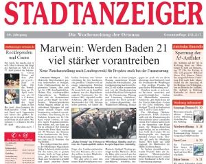 Artikel Stadtanzeiger Offenburg