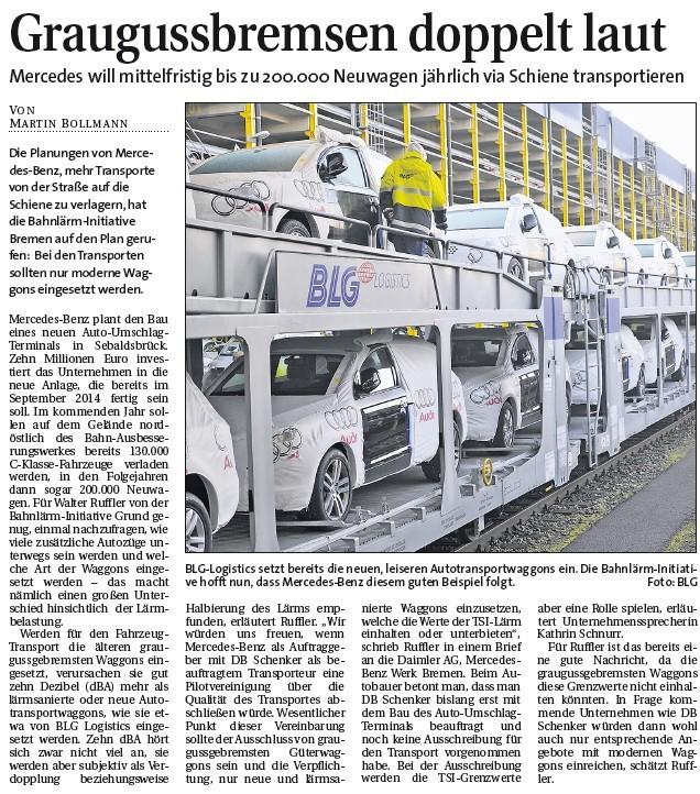 2013-01-27 - Weser-Report - Bericht